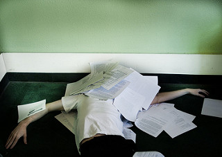 It's your first semester of graduate school - do you feel like this? photo credit: Buried Alive via photopin (license)